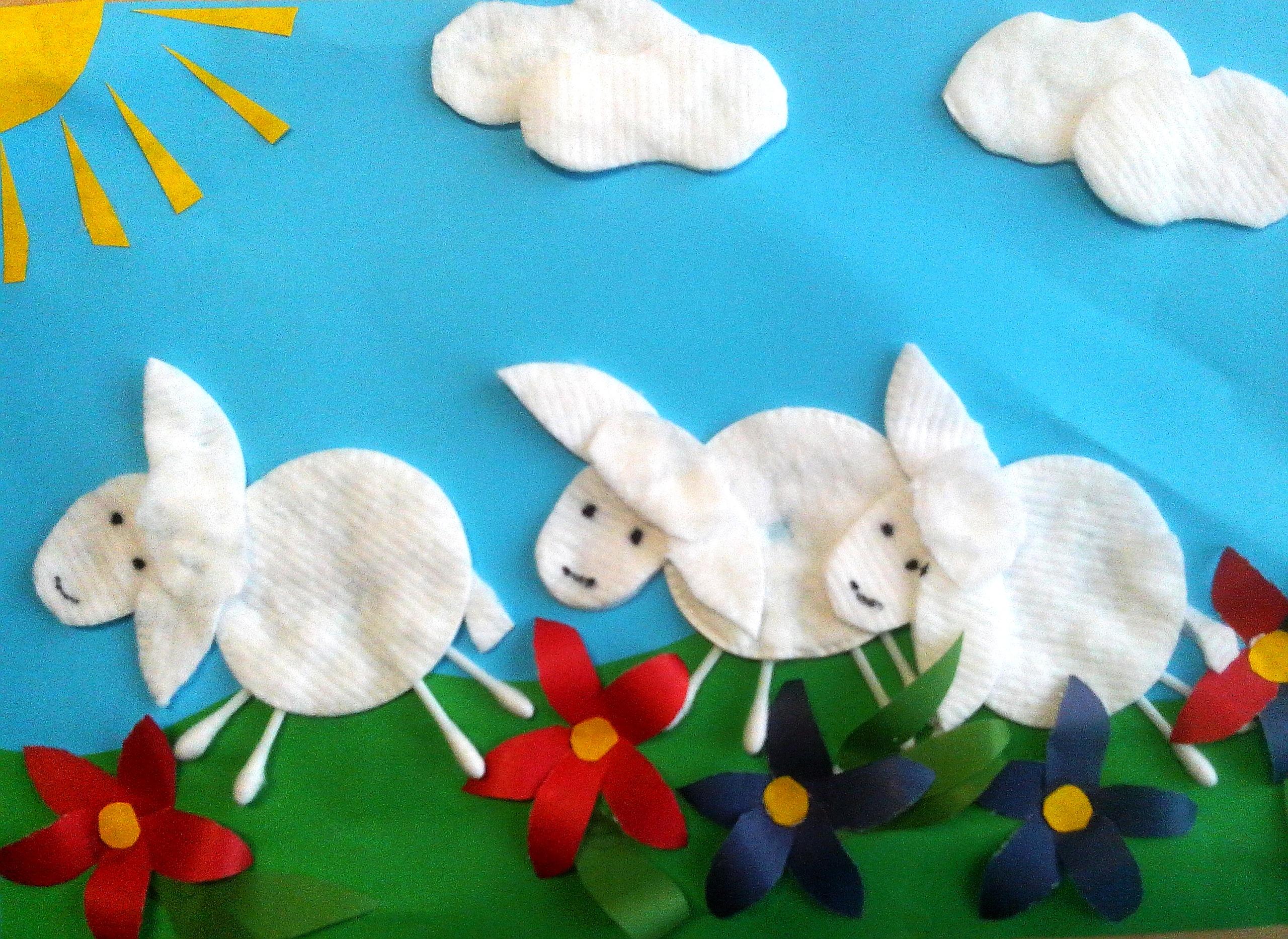 Как сделать аппликацию овечка